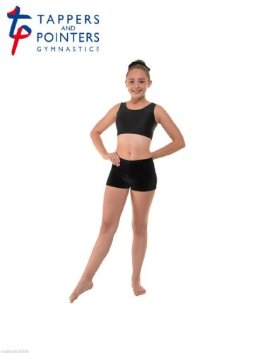 Micro Hipster Shorts Hot Pants Smooth Velvet Gymnastics Dance Freestyle BLACK